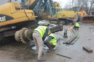 serwis traxtad podczas prac budowlanych